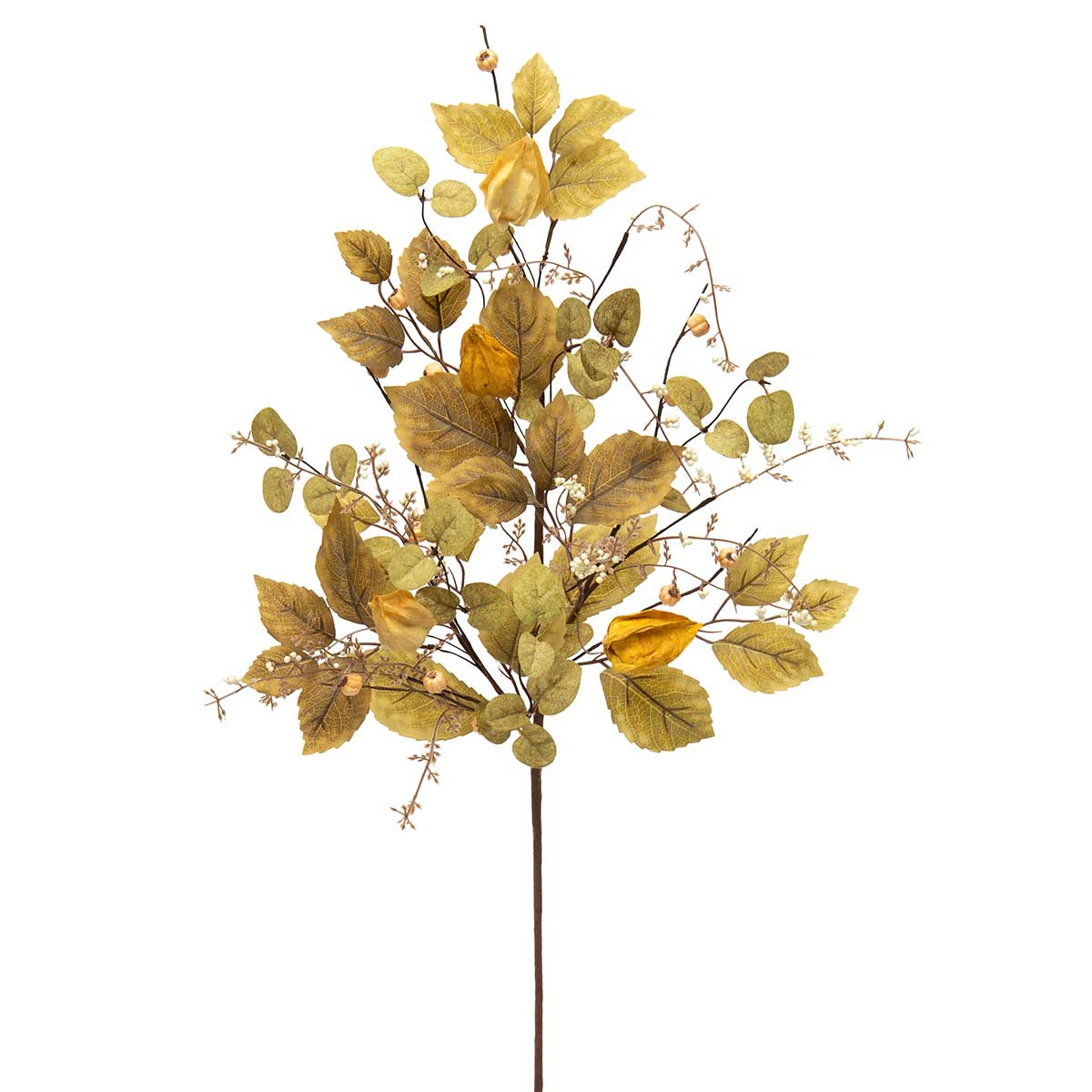 MIXED LANTERN LEAF SPRAY WITH PODS &