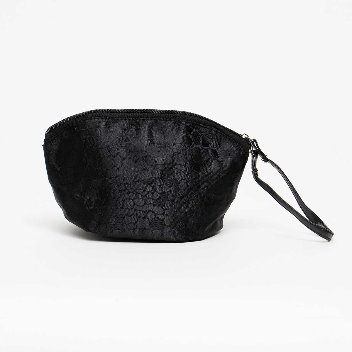 BLACK COBBLESTONE ACCESSORY BAG WITH STRAP