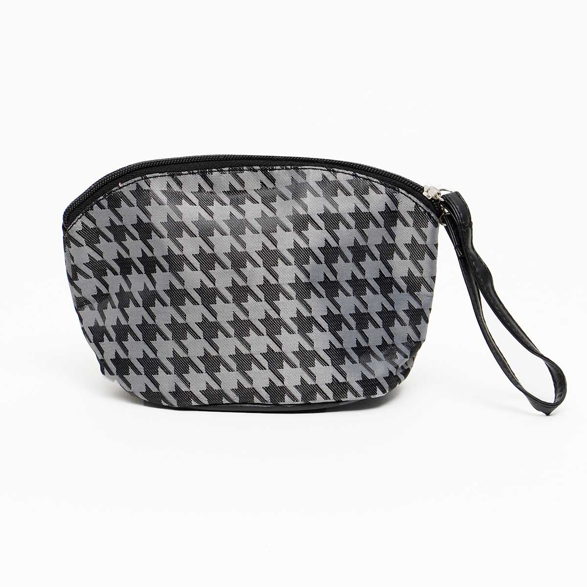 GRAY/BLACK HOUNDSTOOTH ACCESSORY BAG