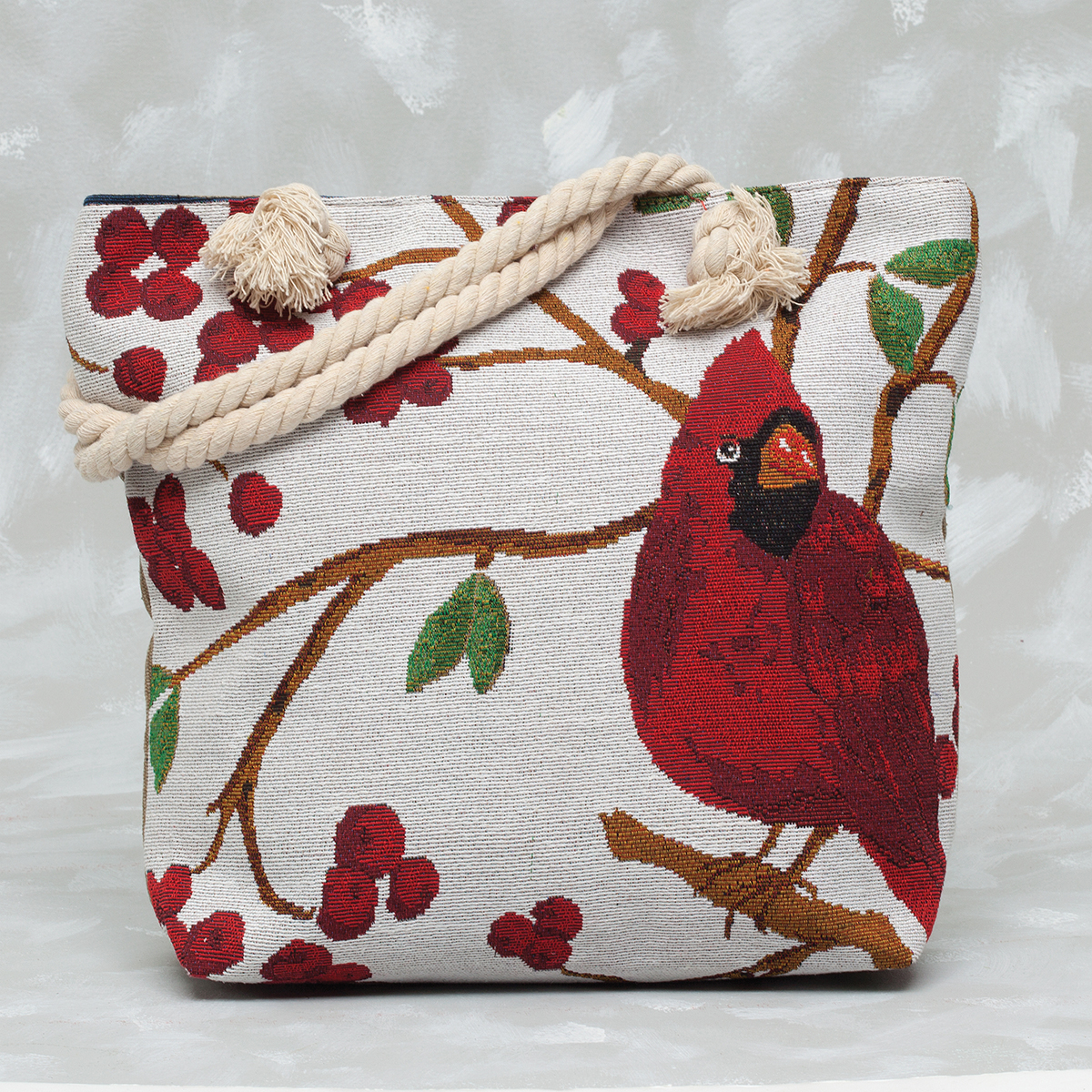 Cardinal Tapestry Bag