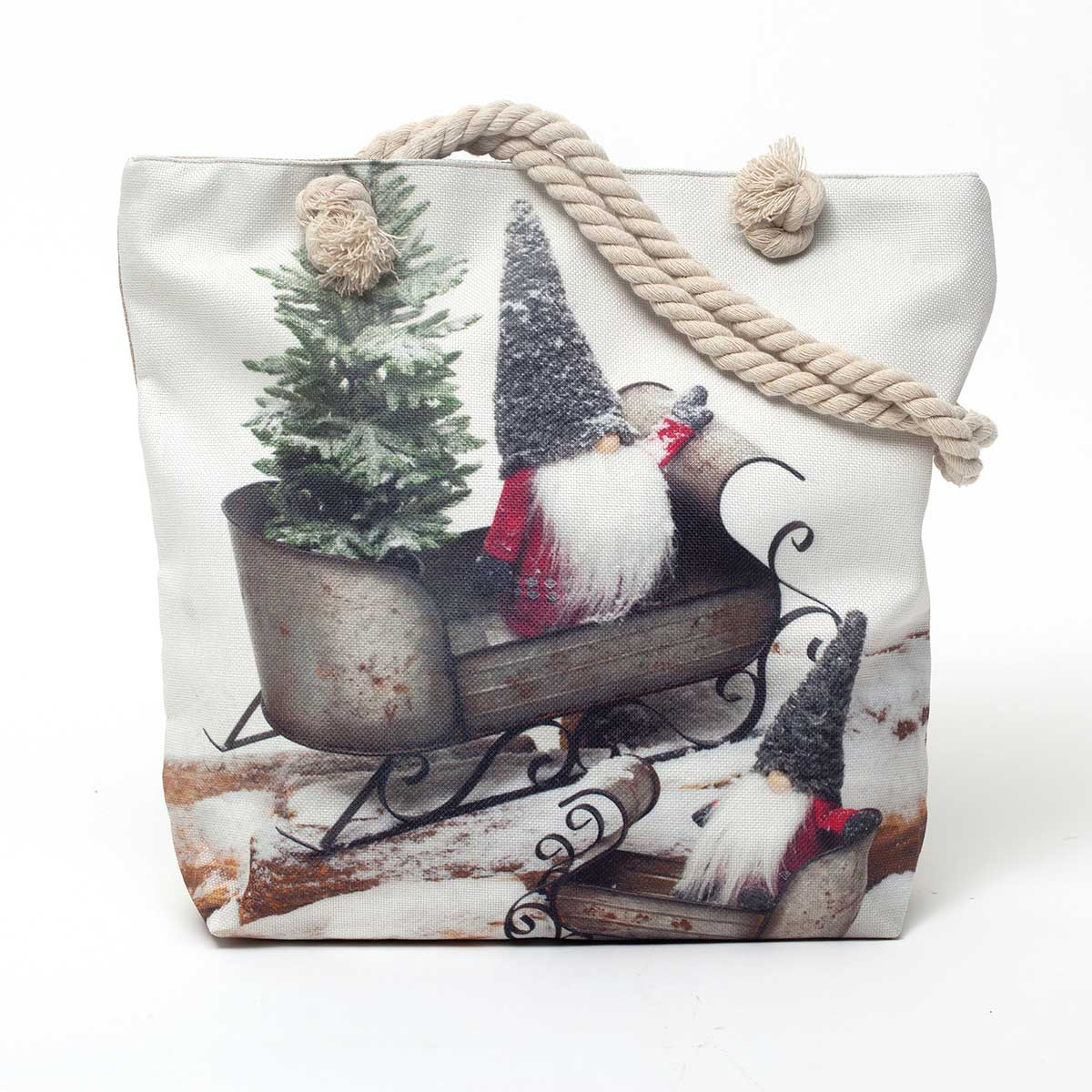Gnome in Sleigh Christmas Bag