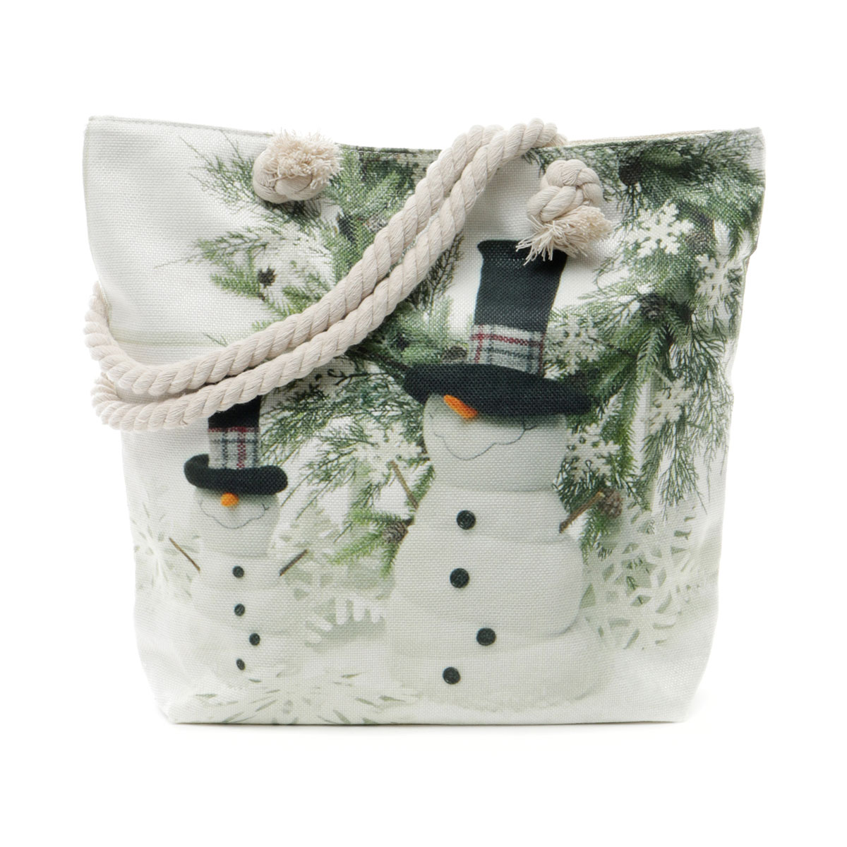Snowmies Tapestry Bag with Adjustable Should Strap, Lining and Z