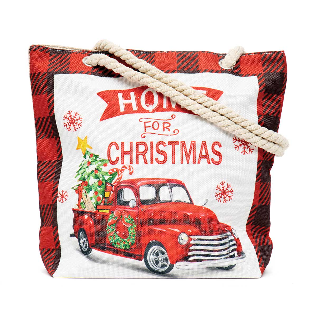 Home for Christmas Truck Tapestry Bag
