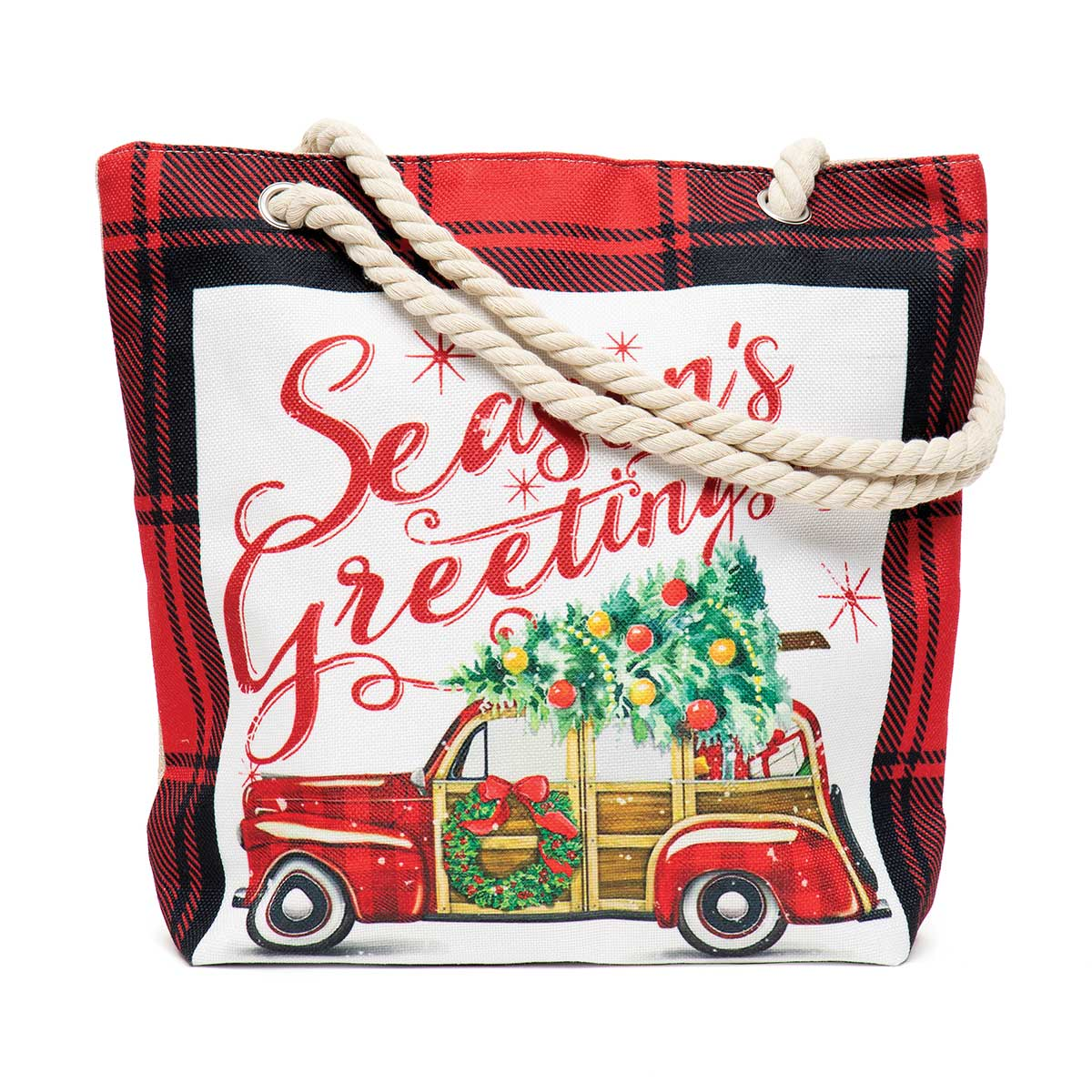 Seasons Greetings Car Tapestry Bag
