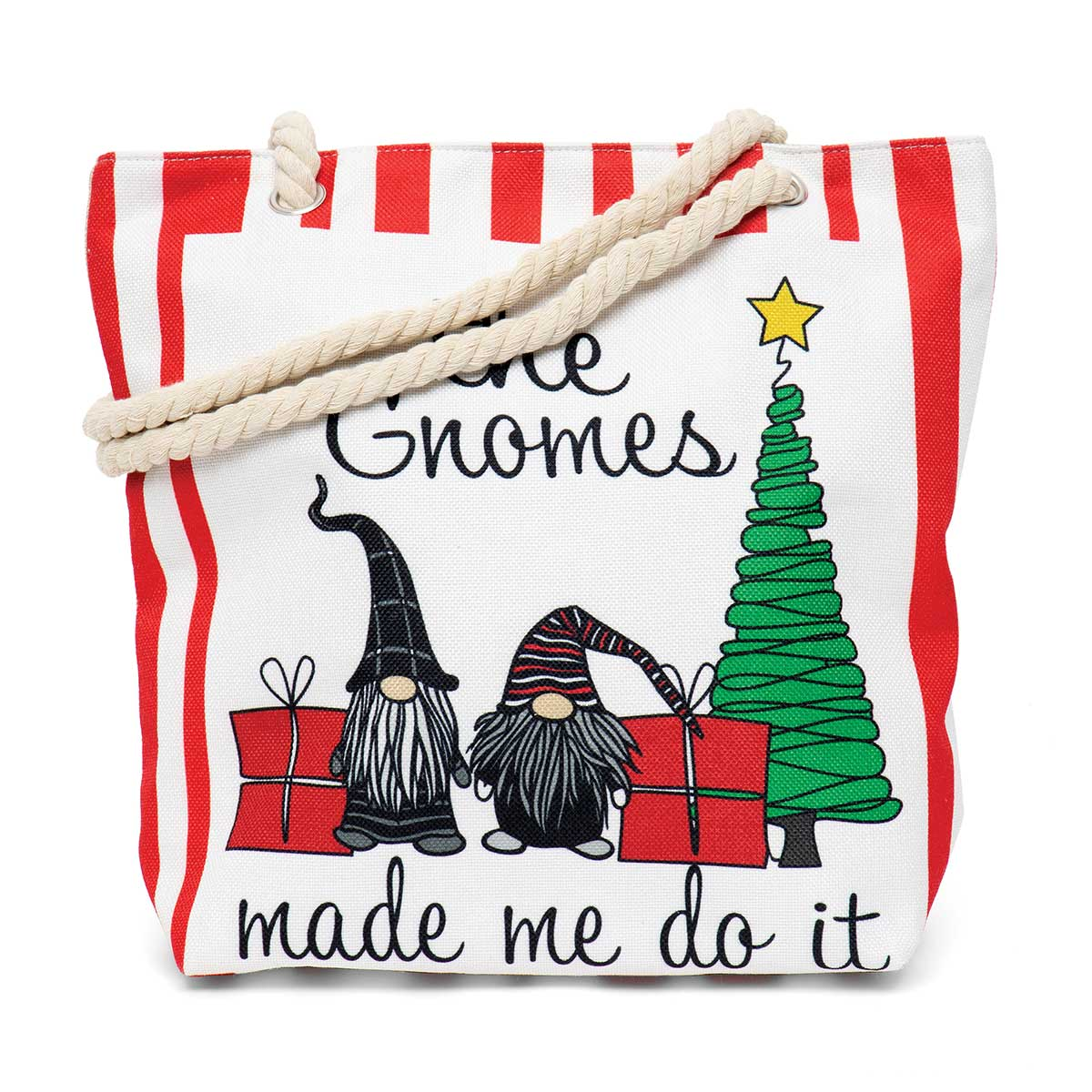 The Gnomes Made Us Do It Tapestry Bag