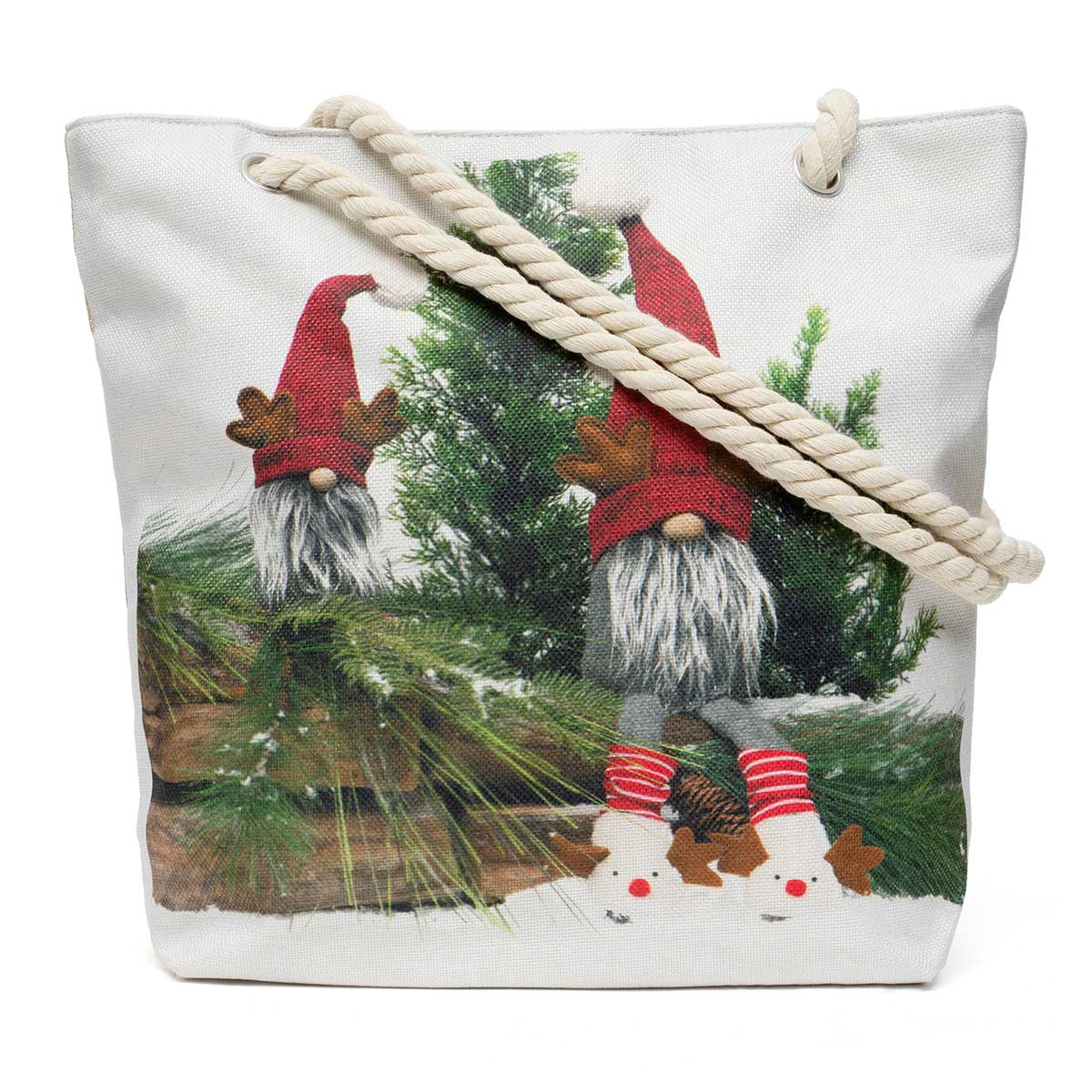 Reindeer Gnome Friends Tapestry Bag