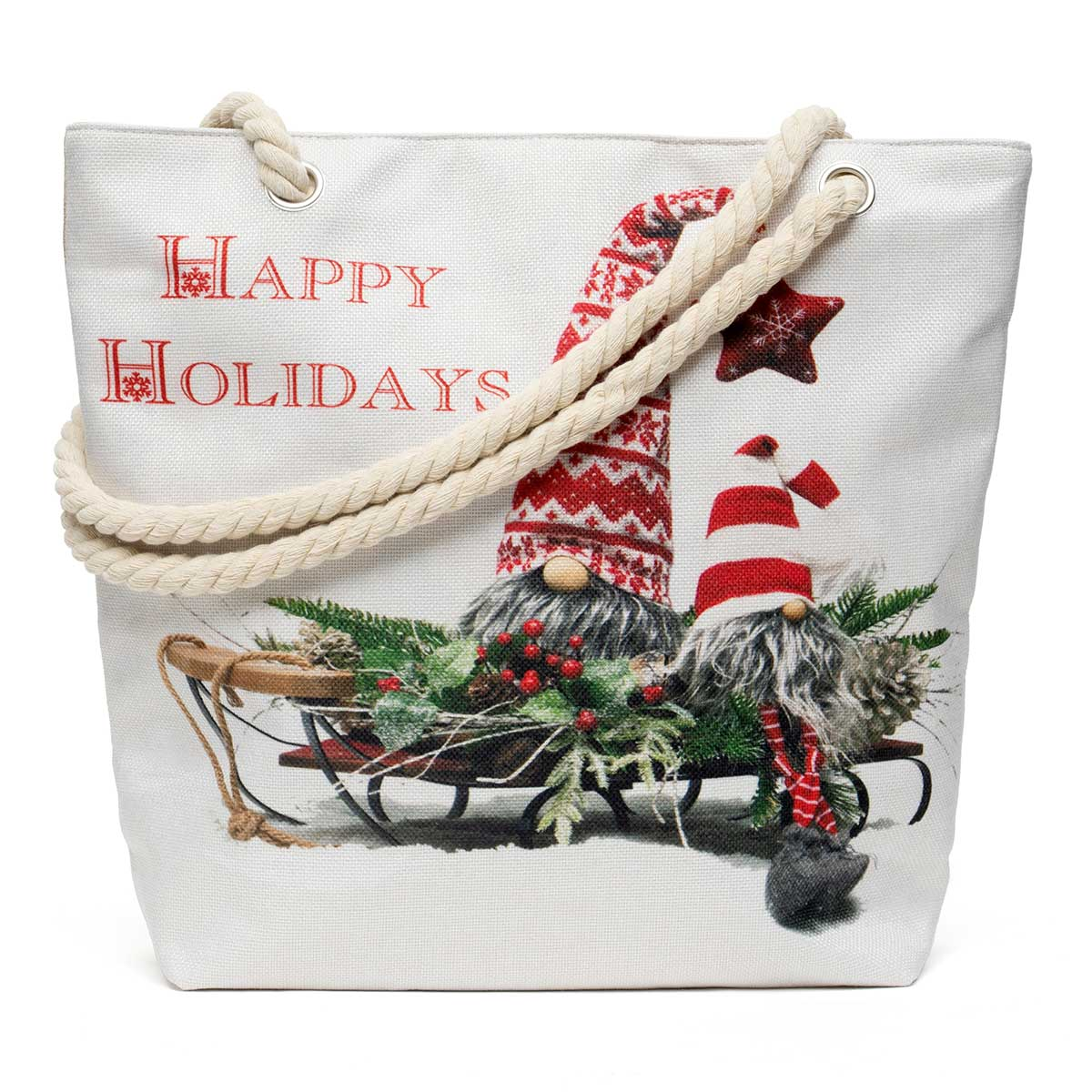 Snowflake Gnome Tapestry Bag