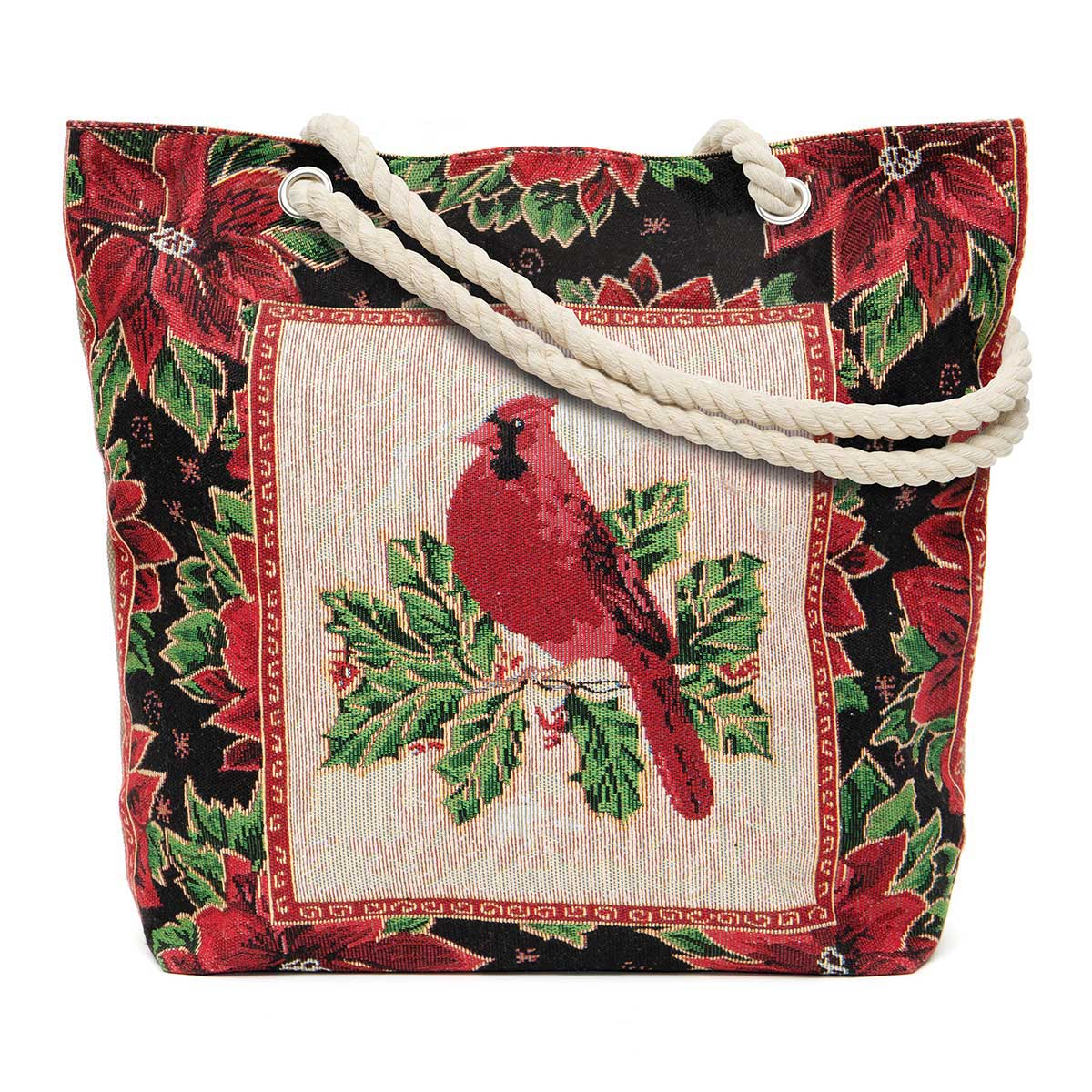 Winter Cardinal Tapestry Bag
