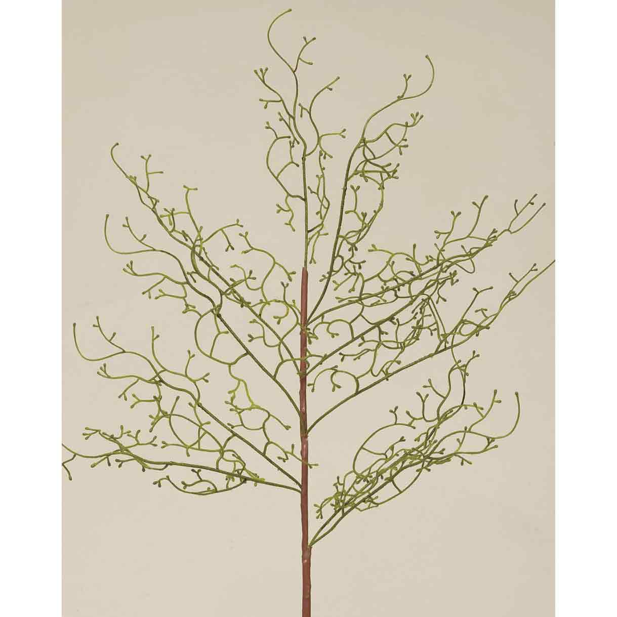 "M8345 FERN FLOCKED TWIG SPRAY 36"" 70sp"