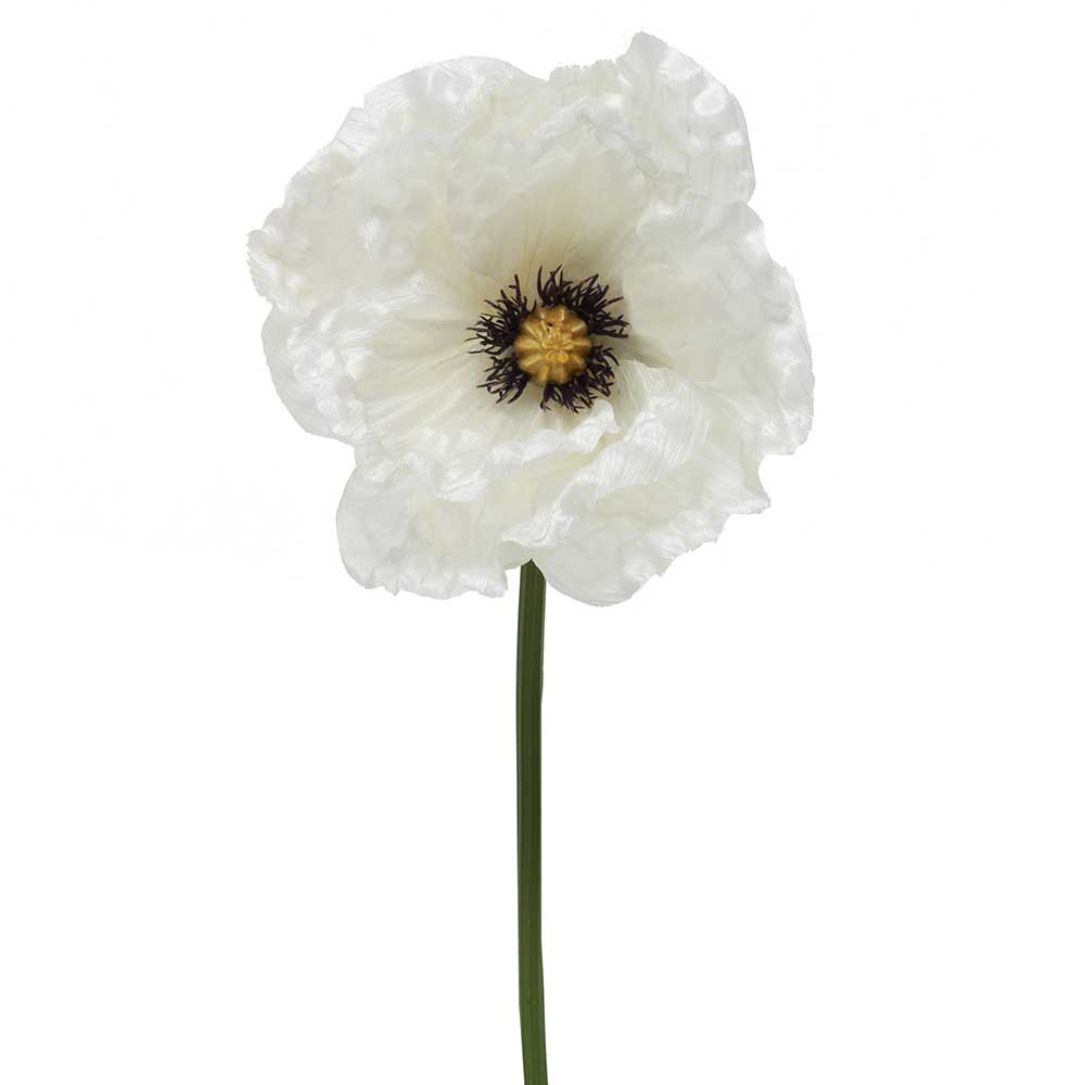 "RIVIERA POPPY 12"" WHITE"