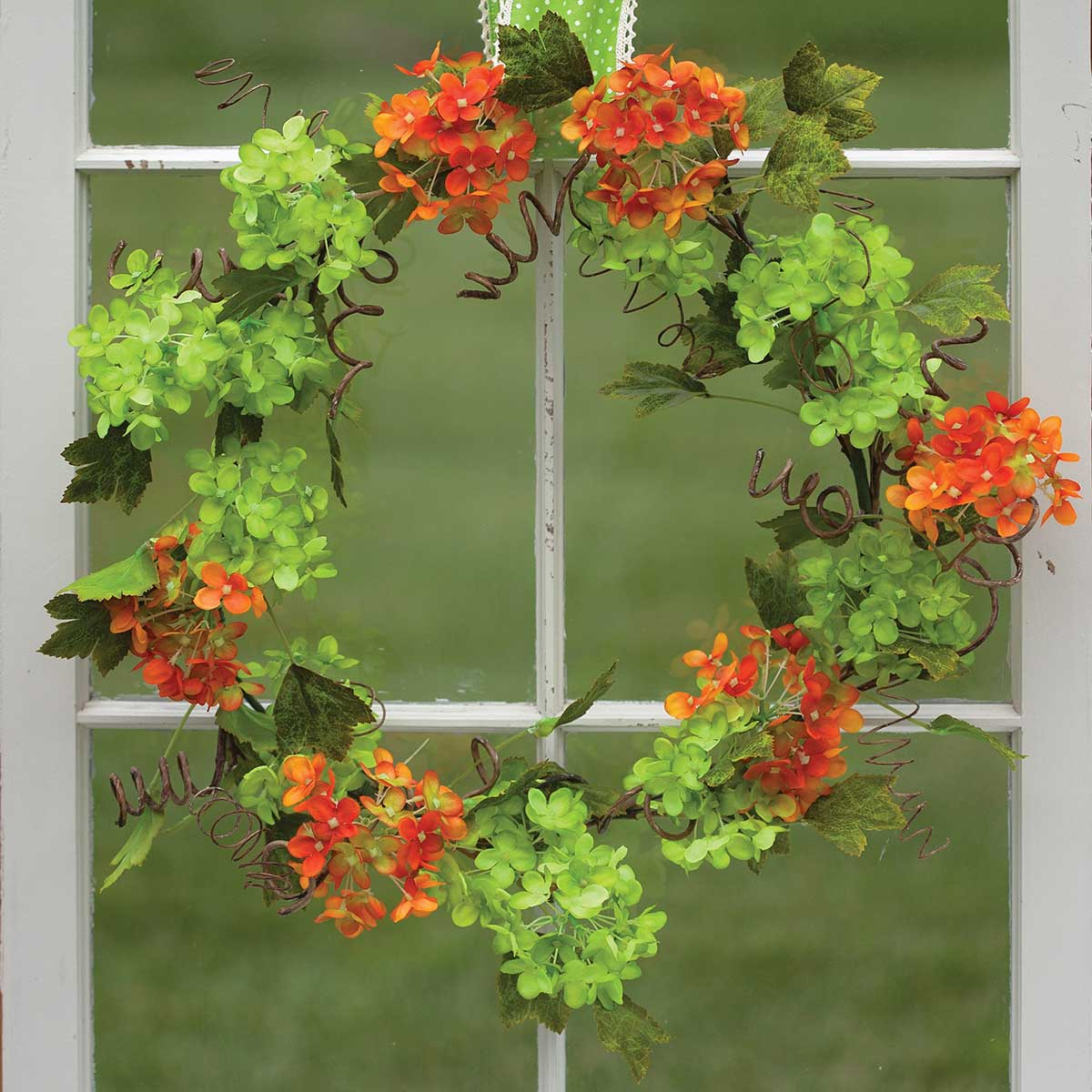 "Cabrera Snowball Blossom Wreath 22"" M9151 v22"