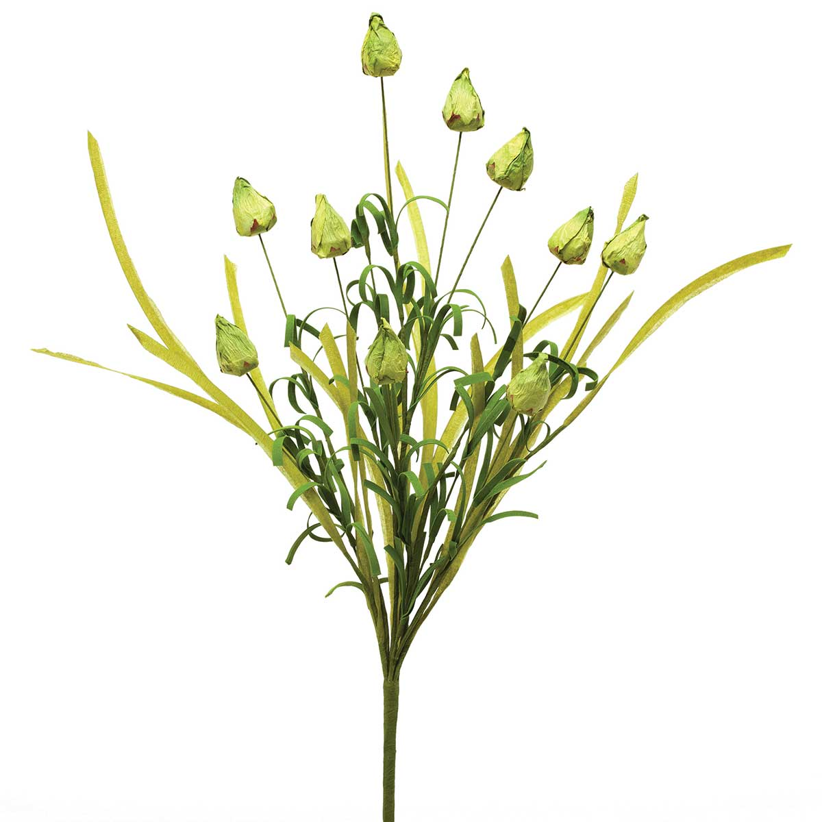 Fresh Bud Bush with Grass 23� Green M9265 GR