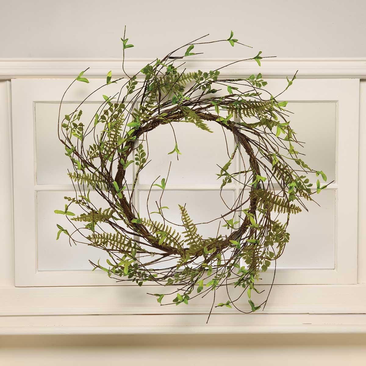 "Privet Leaf Wreath 24"" Dark Green M9280"