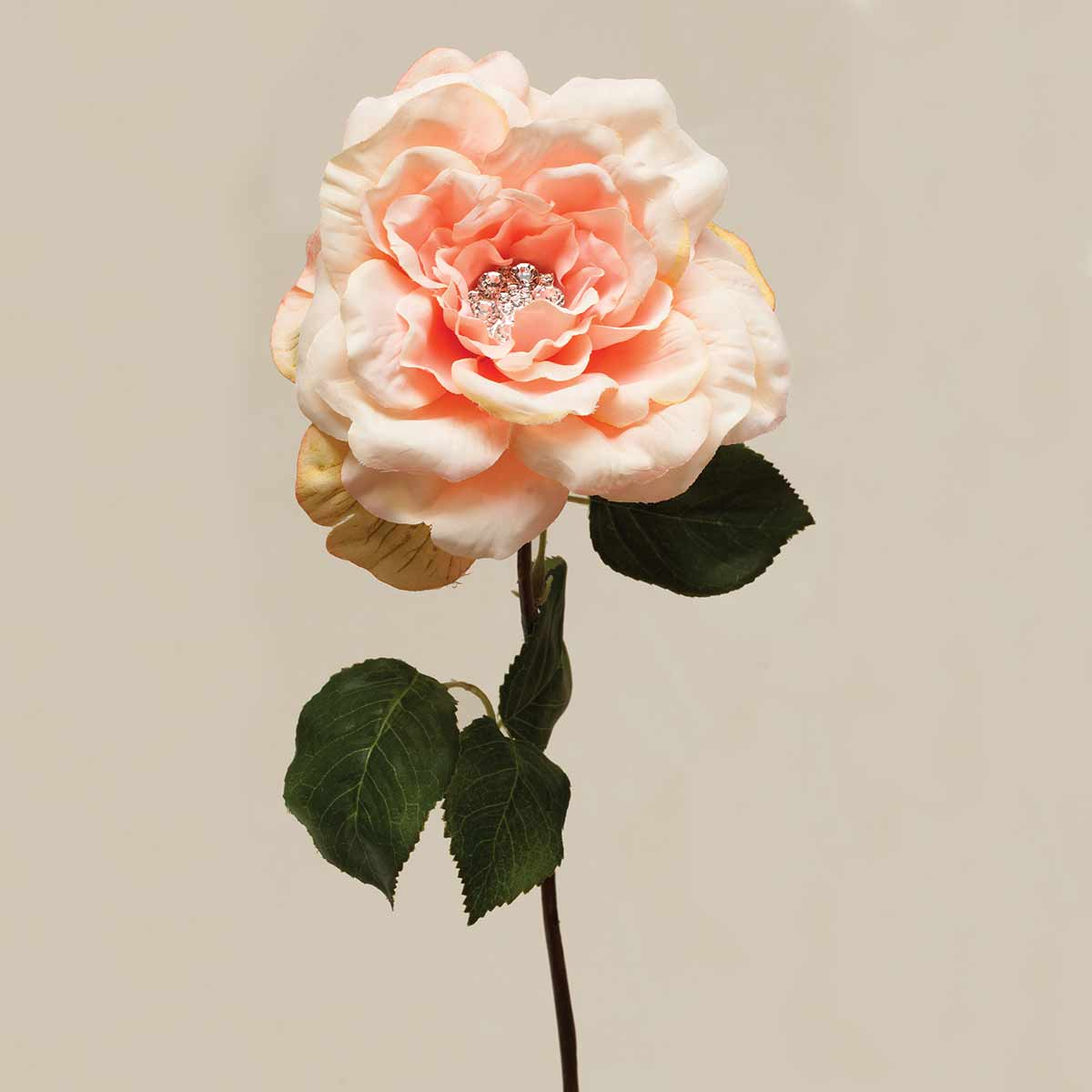 "GALA ROSE WITH GEM CENTER 5""X22"" PEACH"