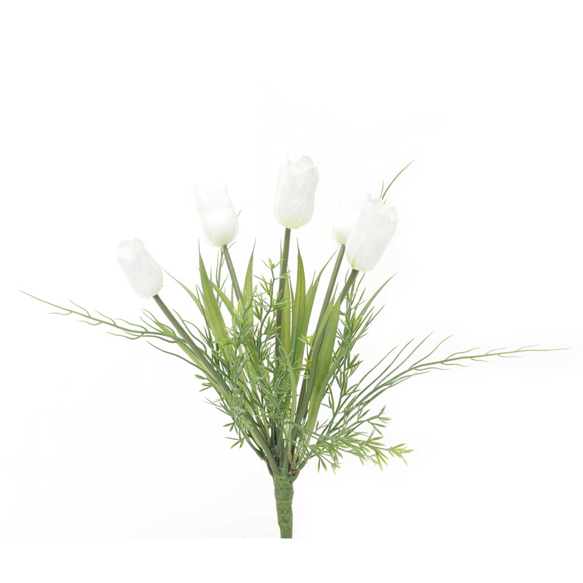 "Tulip Bush X5 with Grass 10""x12.5"" White"