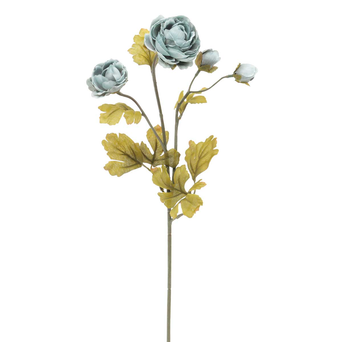 "Sea Glass Ranunculus X4 2""x22"" Blue"