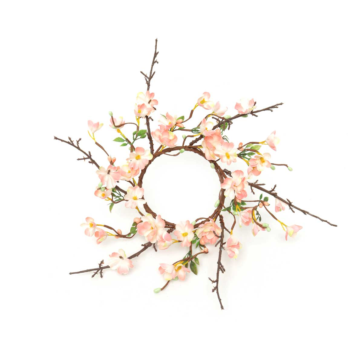 "Peach Blossom Candle Ring 14""(Inner Ring 4"")"