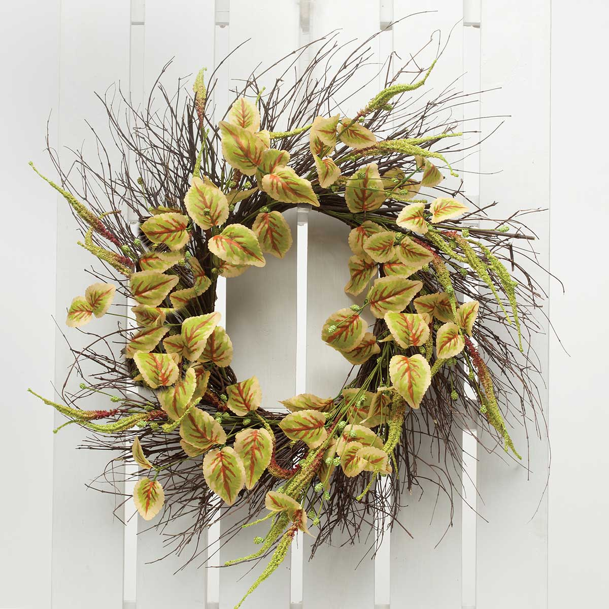 "Meadow Coleus Oval Wreath 27""(Inner Ring 10"")"