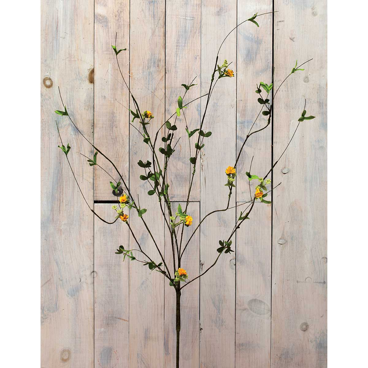 "DECORATIVE WILD TWIG BLOSSOM BRANCH 42"" YELLOW"