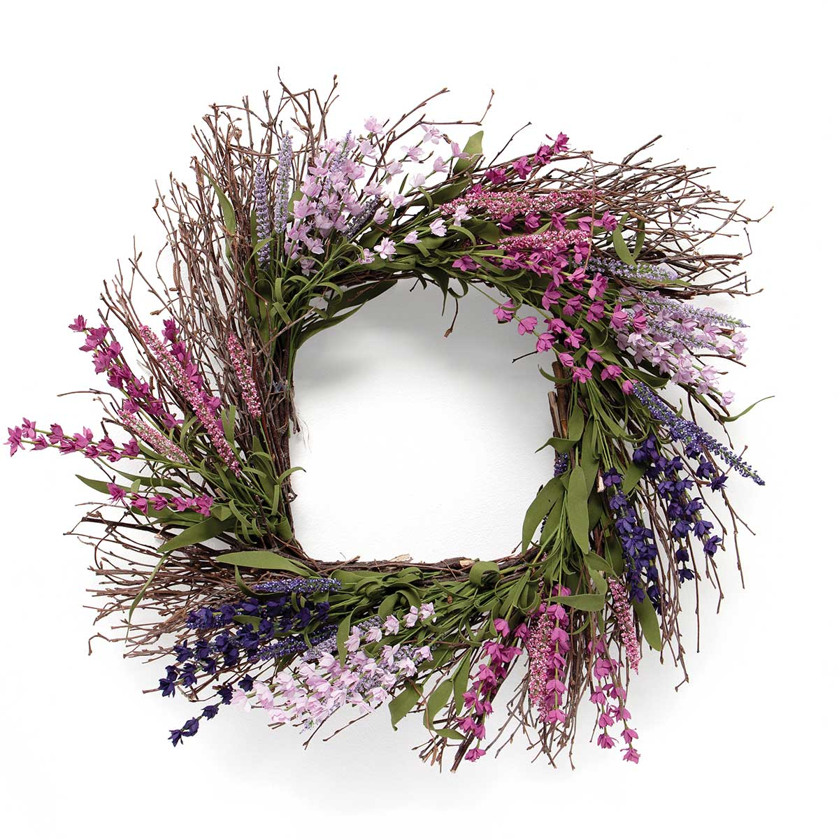 FRENCH LAVENDER SQUARE TWIG WREATH
