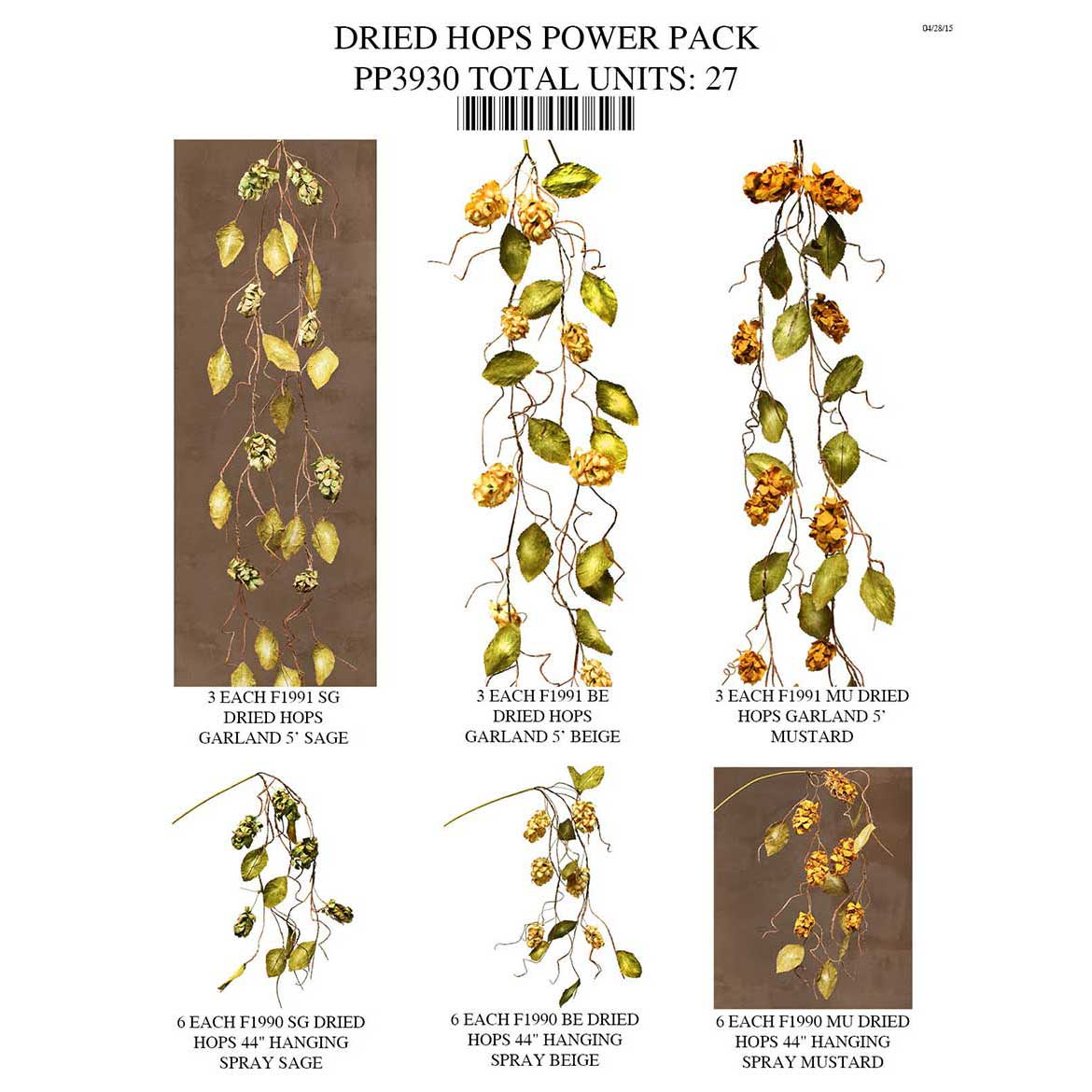 DRIED HOPS POWER PACK 27 UNITS