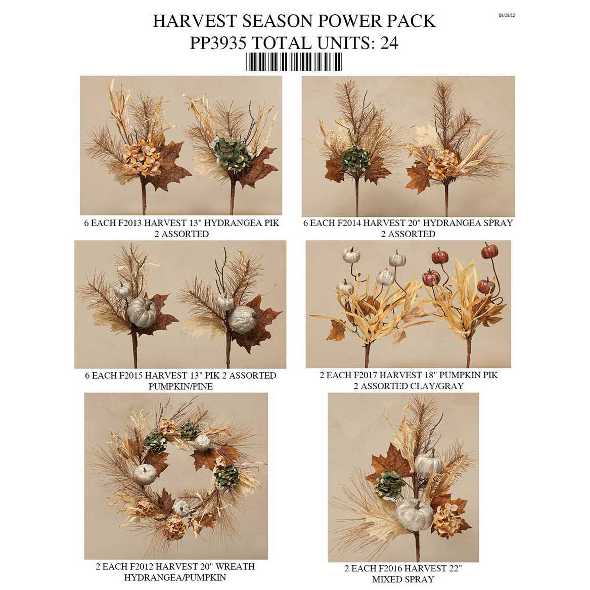 HARVEST SEASON POWER PACK 24 UNITS