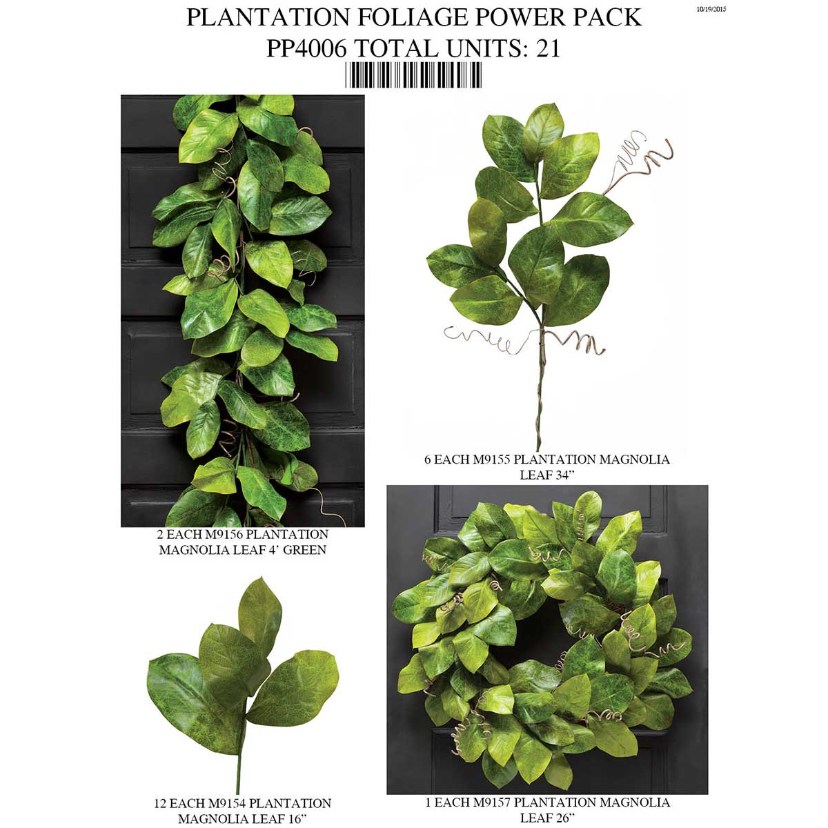 Plantation Magnolia Leaf Power Pack 21 Units