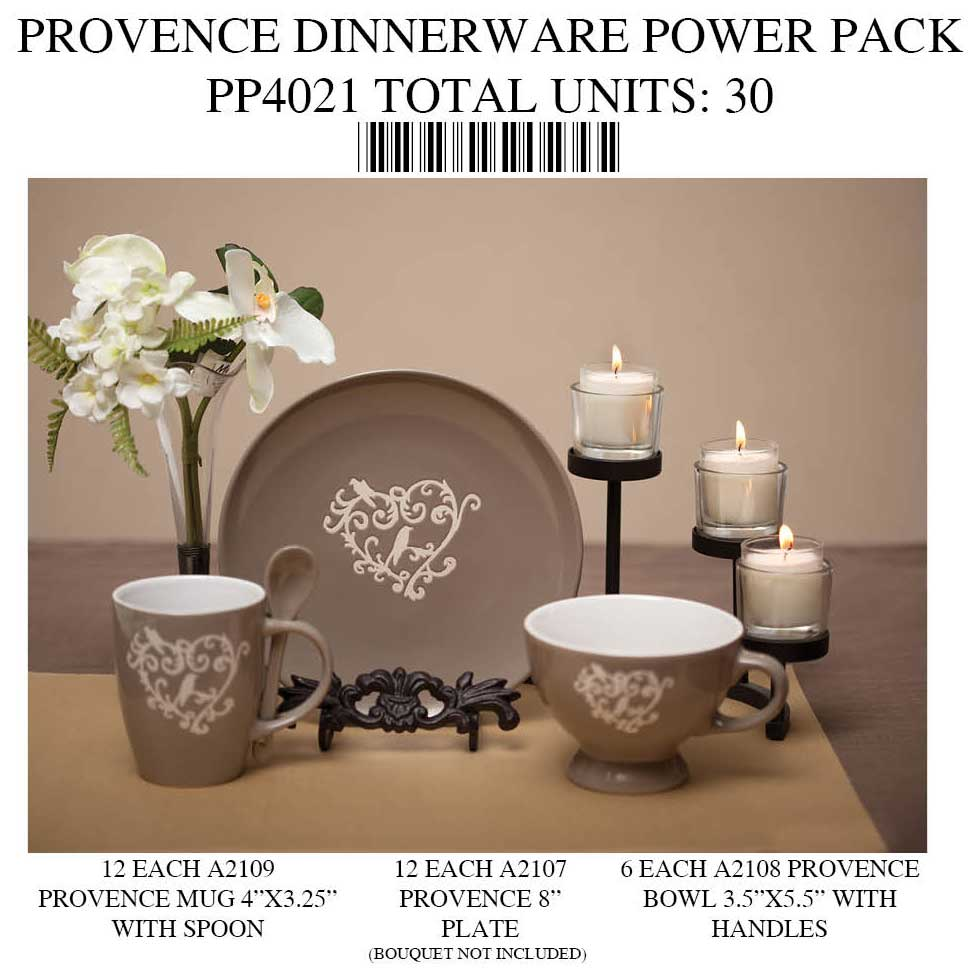 Provence Dishware Power Pack 30 Units PP4021 70sp
