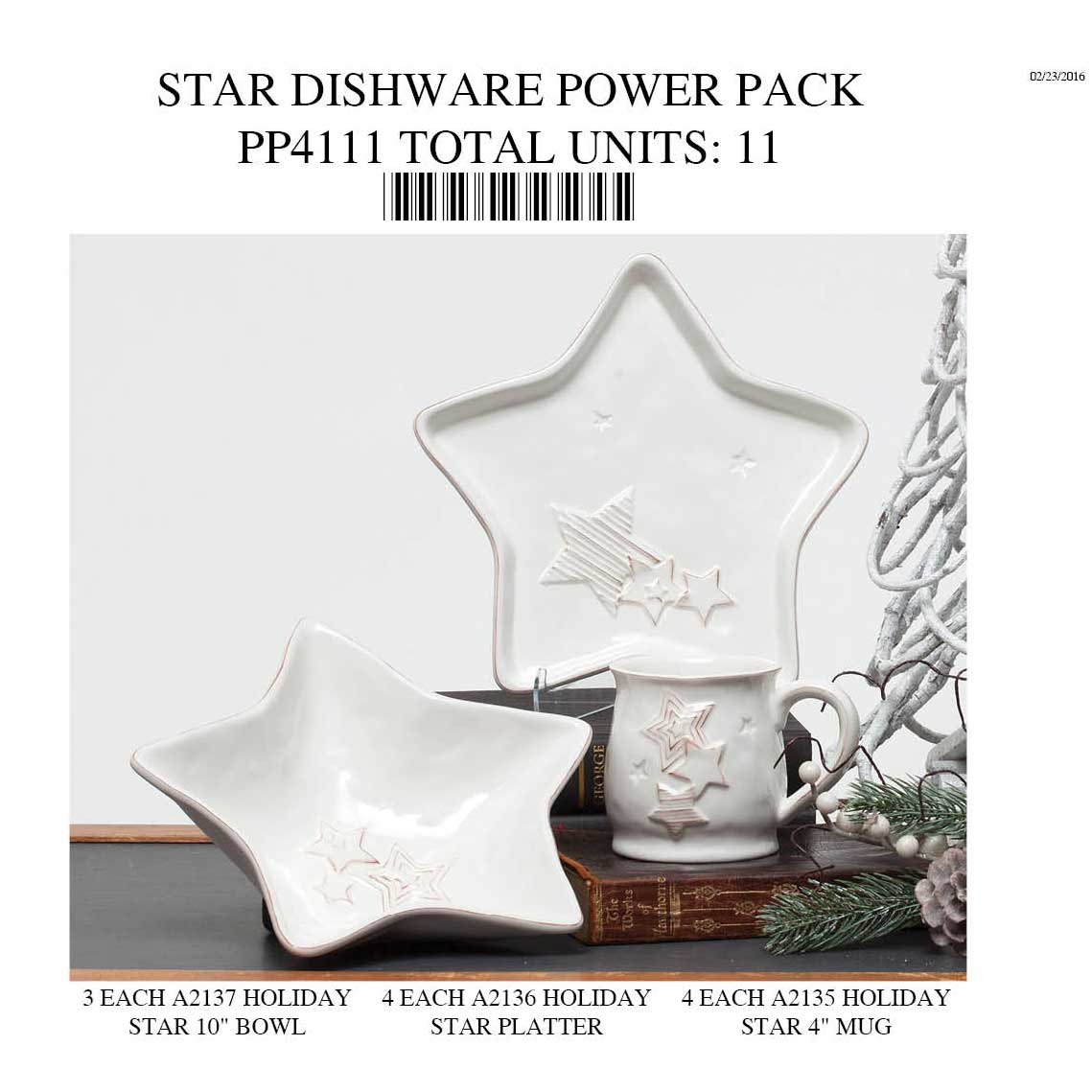 STAR DISHWARE POWER PACK 11 UNITS 70sp