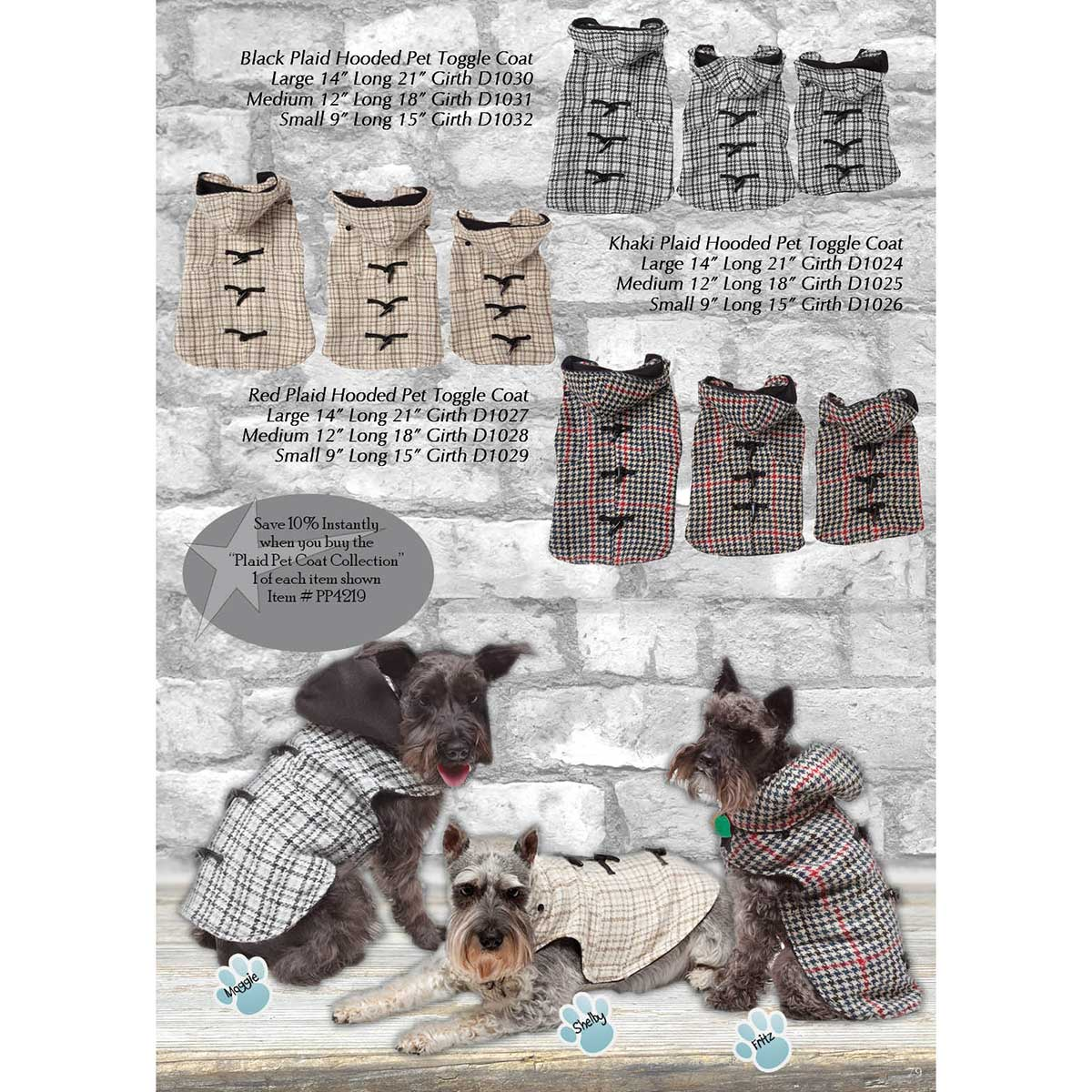 Plaid Pet Coat Collection PP4219