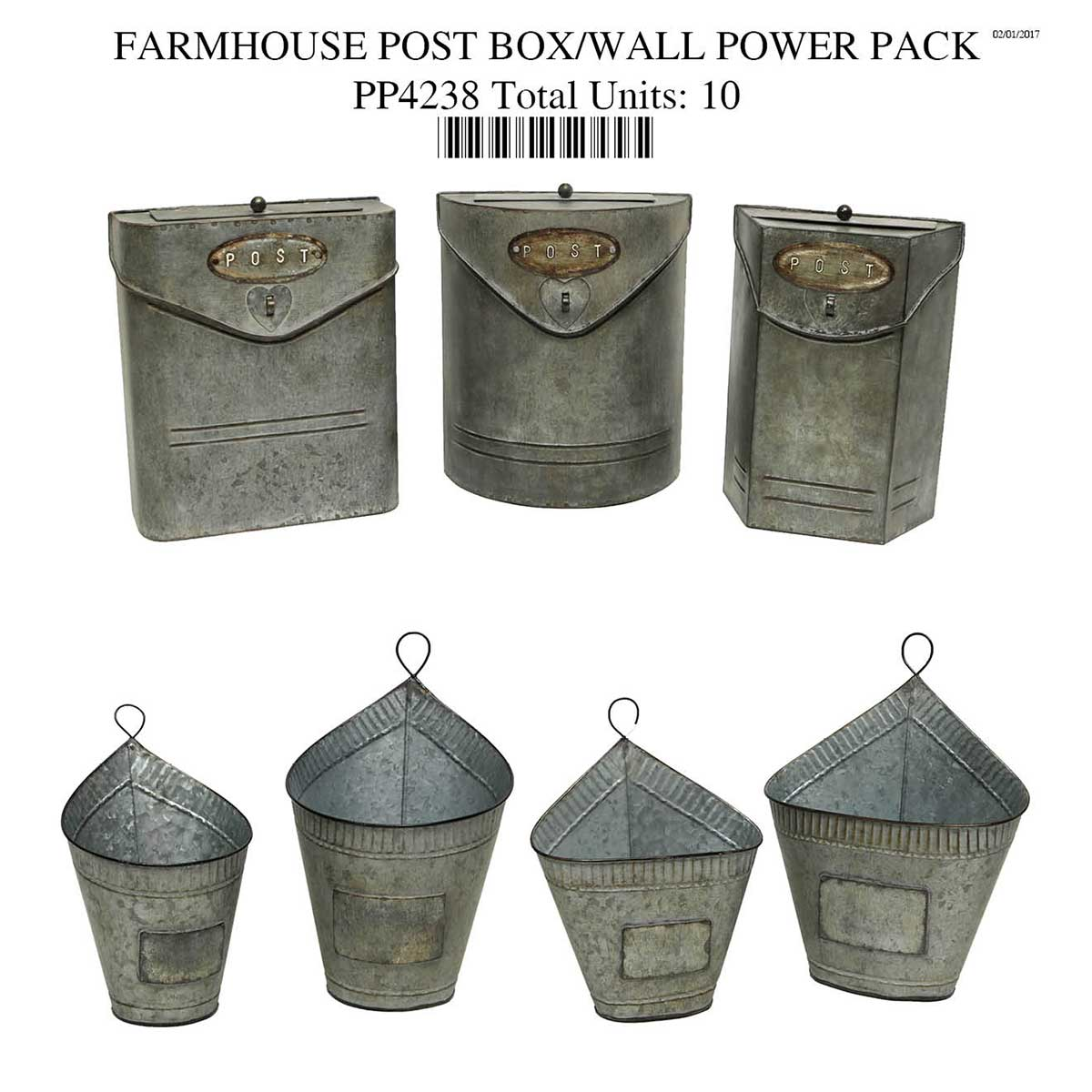 FARMHOUSE POST BOX/WALL COLLECTION POWER PACK 10 units PP4238