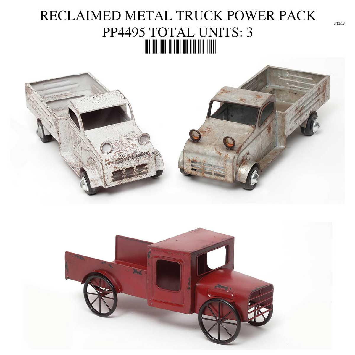 Metal Truck Collection Power Pack 3 Units