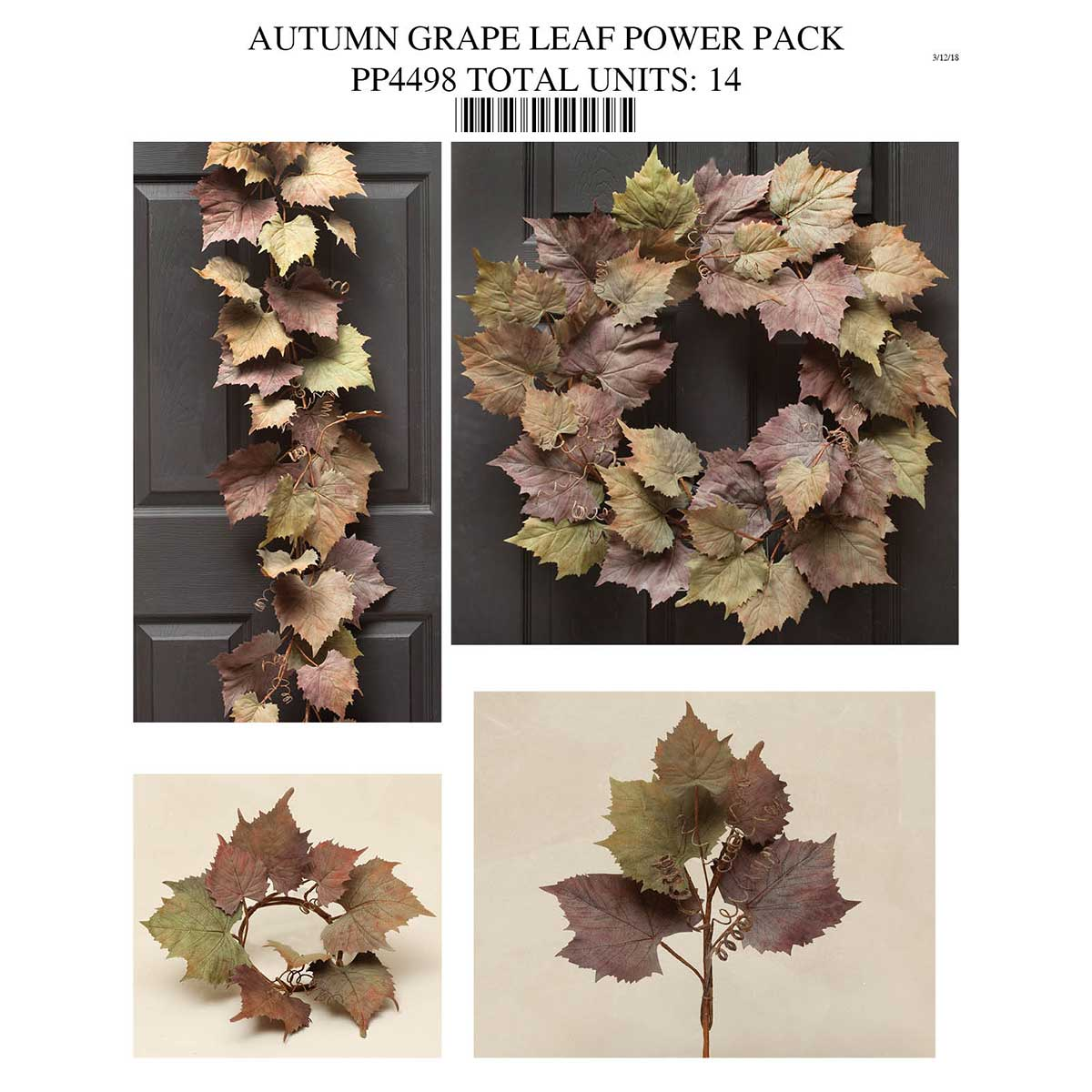 Grape Leaf Power Pack Collection 14 Units