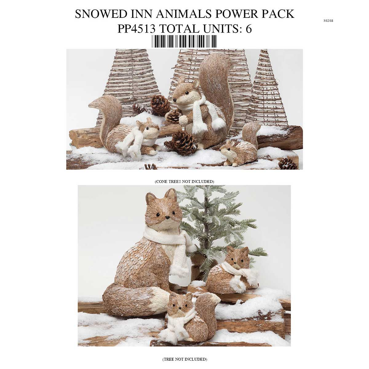 Snowed Inn Animals Collection Power Pack 6 Units