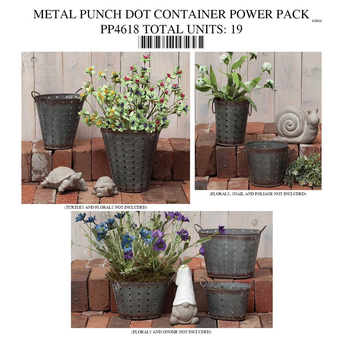 METAL CONTAINER W/HOLES POWER PACK PP4618