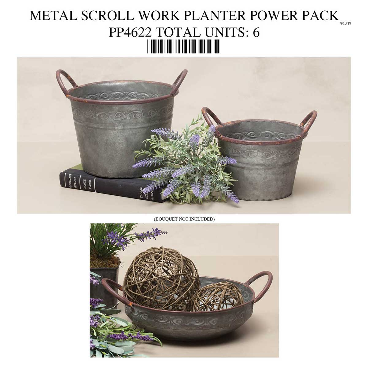 COPPER RIM PLANTER AND BOWL POWER PACK PP4622