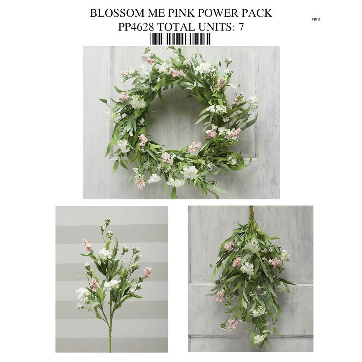 PINK/WHITE BLOSSOM POWER PACK PP4628 - Click Image to Close