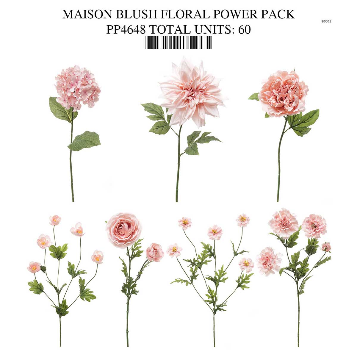BLUSH FLORAL COLLECTION POWER PACK PP4648