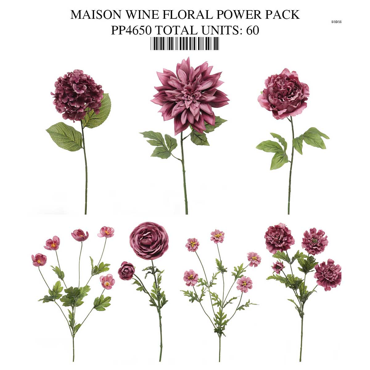 WINE FLORAL COLLECTION POWER PACK PP4650