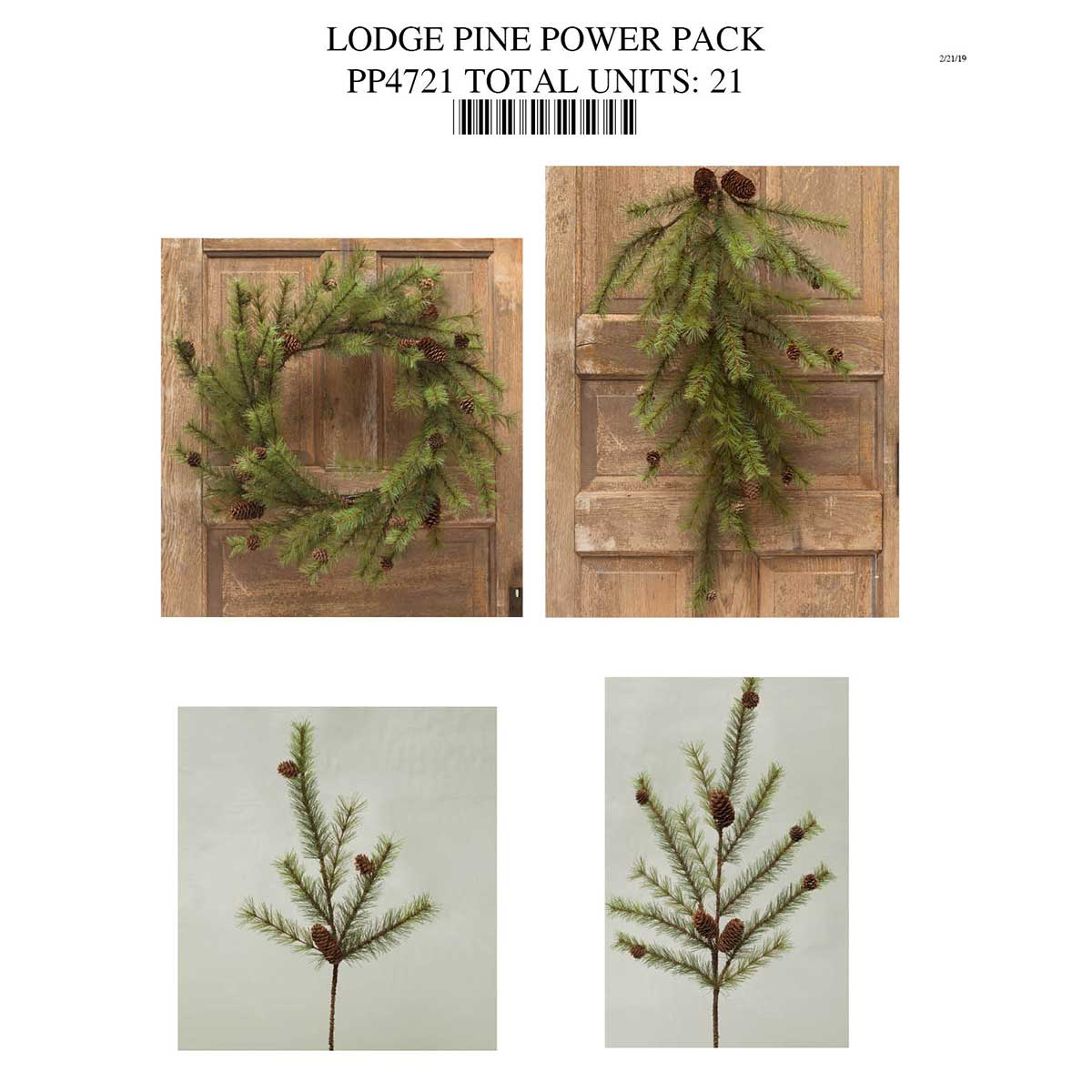 LODGE PINE WITH CONES POWER PACK