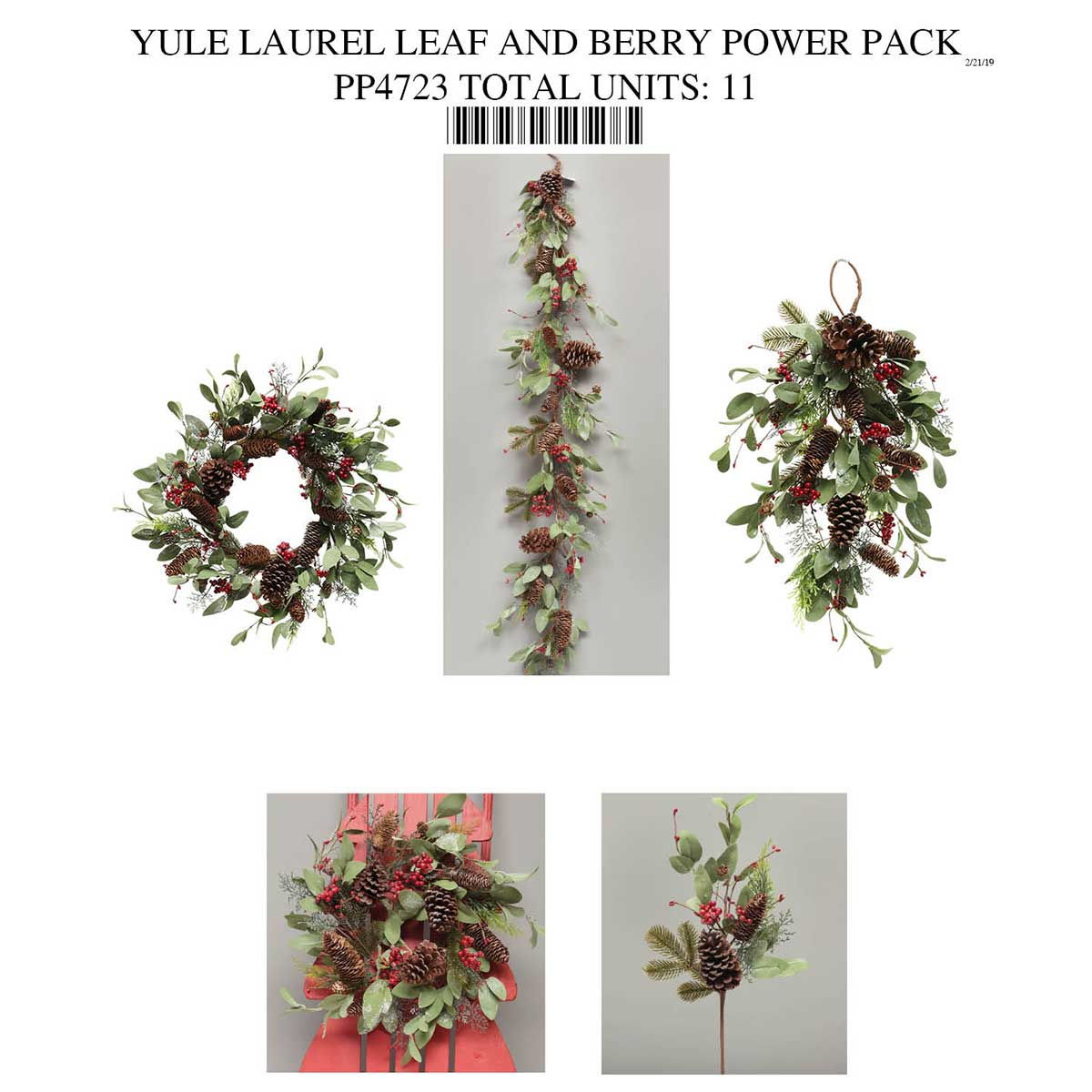 LAUREL BERRY AND MIXED PINE COLLECTION POWER PACK PP4723