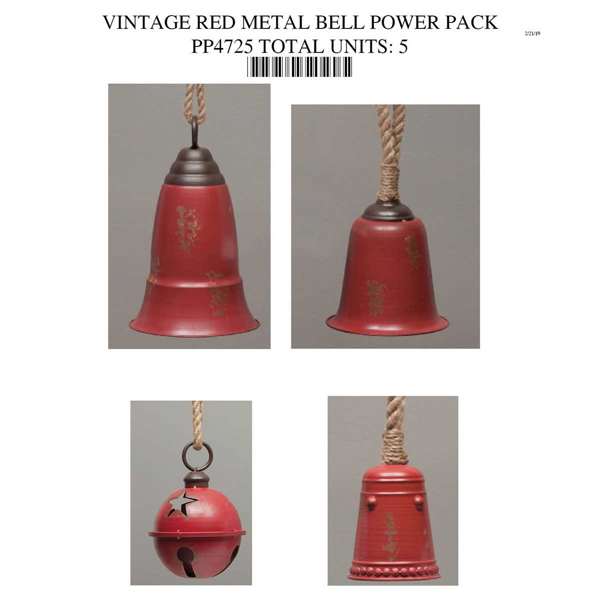 RED METAL BELL POWER PACK PP4725