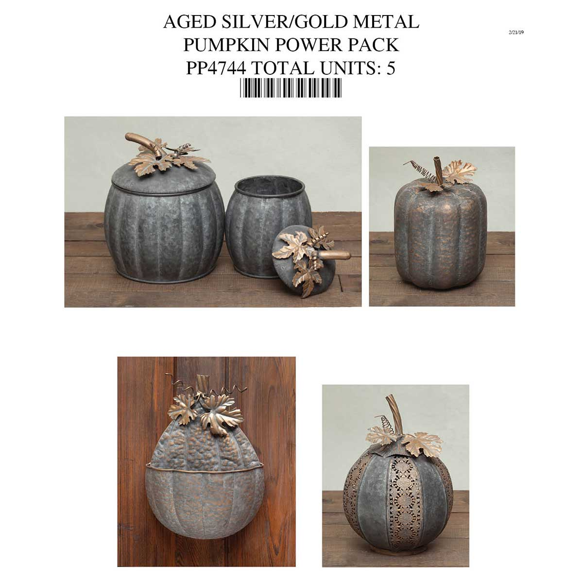 METAL PUMPKIN COLLECTION POWER PACK PP4744