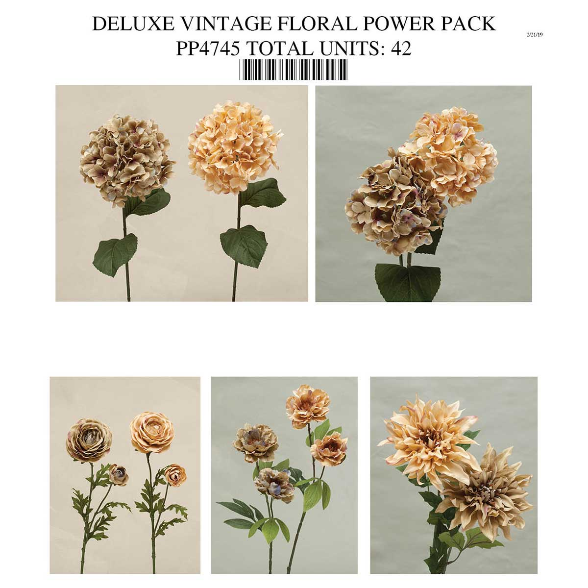 DELUXE VINTAGE FLORAL POWER PACK PP4745