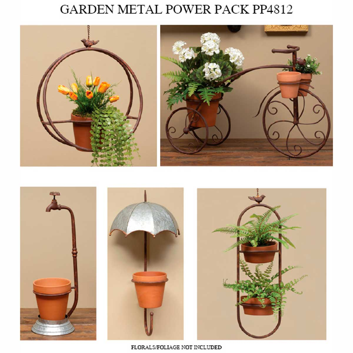 METAL GARDEN POWER PACK 5 UNITS