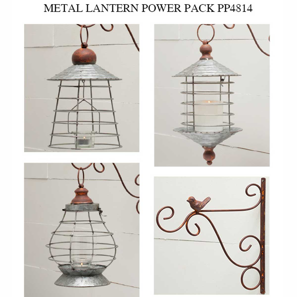 METAL LANTERN POWER PACK 4 UNITS
