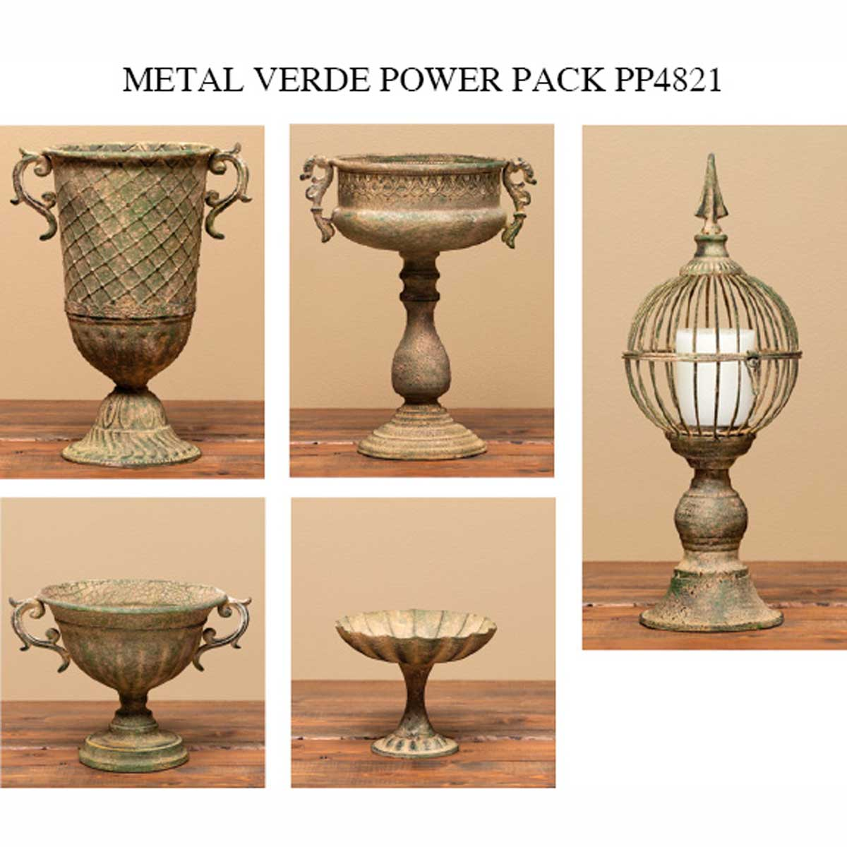 VERDE METAL GARDEN GRACE POWER PACK 6 UNITS