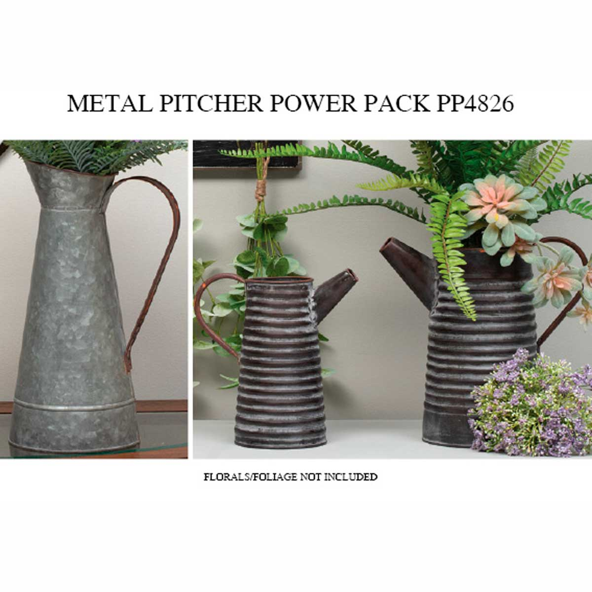 METAL PITCHER POWER PACK 6 UNITS