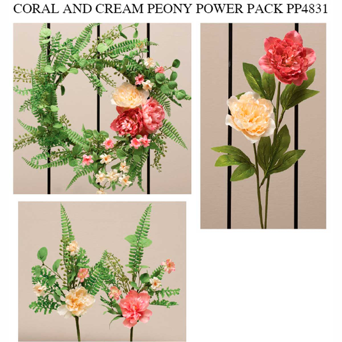 PEONY CORAL CREAM POWER PACK 19 UNITS