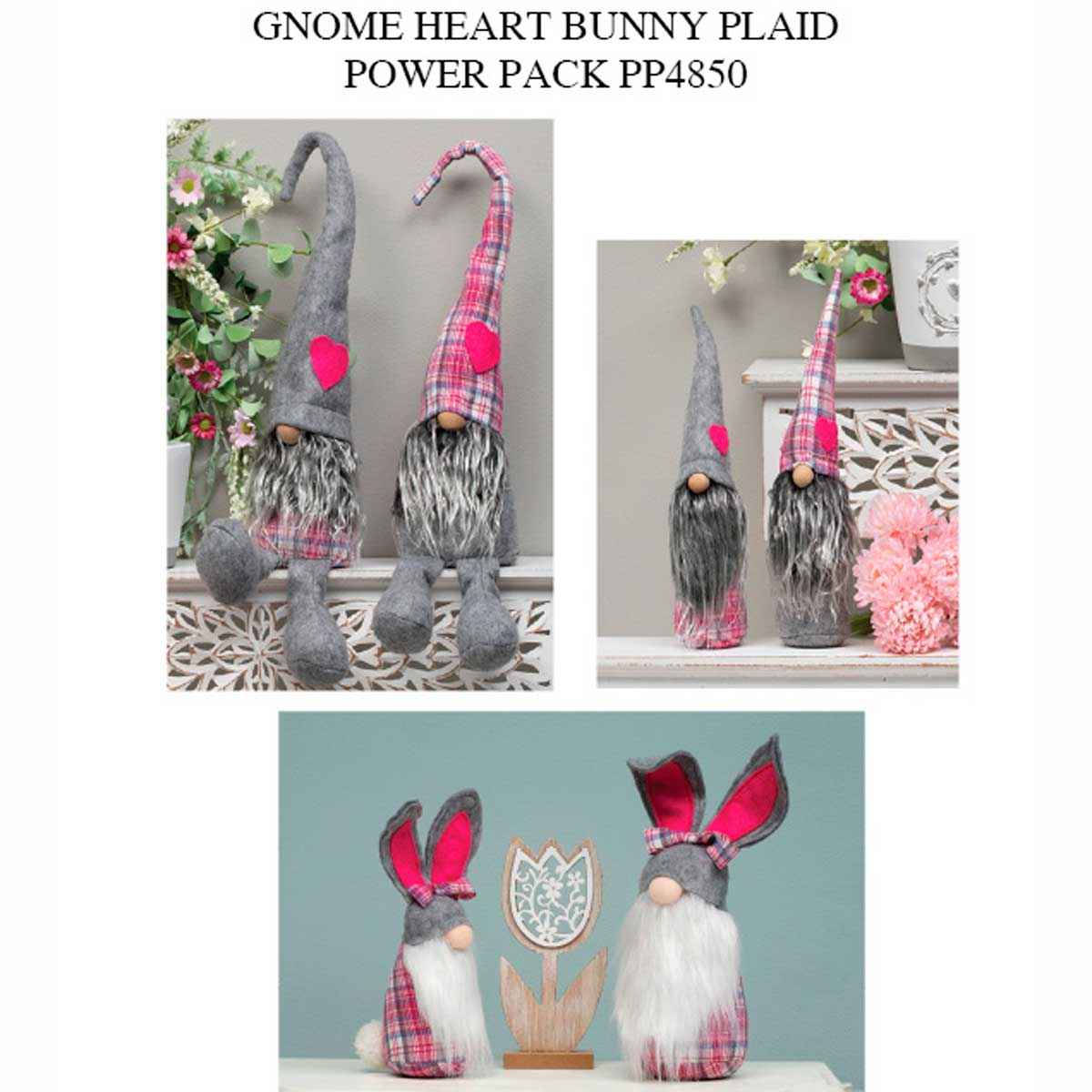 Plaid Heart/Bunny Power Pack 18 Units PP4850
